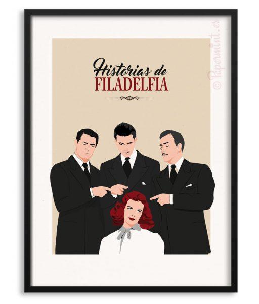 """Póster de """"historias de Filadelfia"""""""