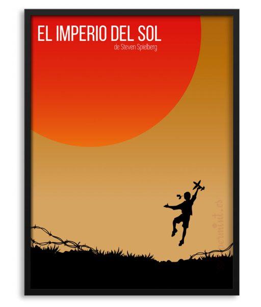 """Póster con marco """"El Imperio del sol"""""""