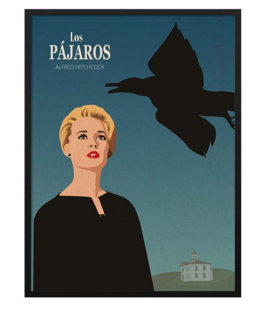 """Póster de """"Los Pájaros"""" de Hitchcock"""