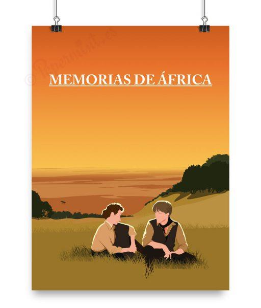 Póster personalizado de Memorias de Africa