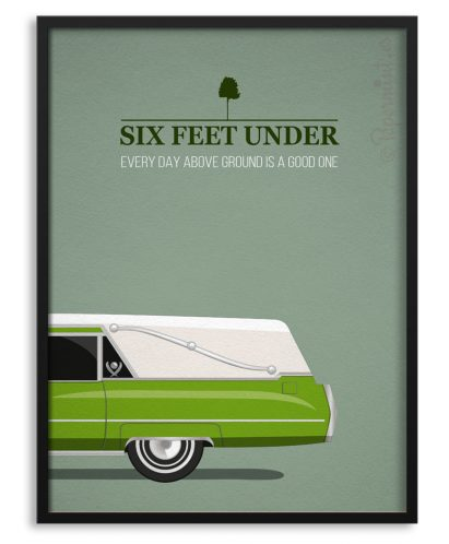 "Póster de la serie ""Six Feet under"""