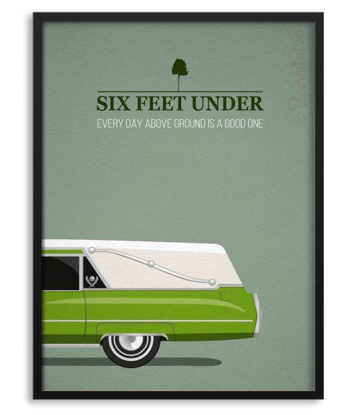"Póster de la serie ""Six Feet under"""