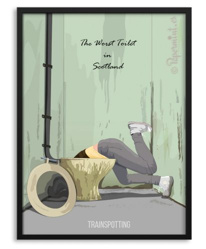 Póster Trainspotting escena toilet