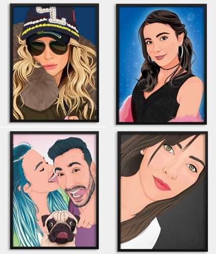 Retratos por encargo en tienda online Papermint