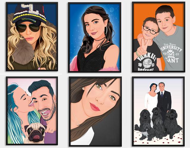 Retratos estilo cómic y pop art PApermint