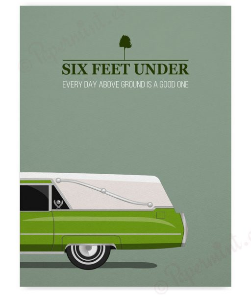 "Póster de ""Six Feet Under"""