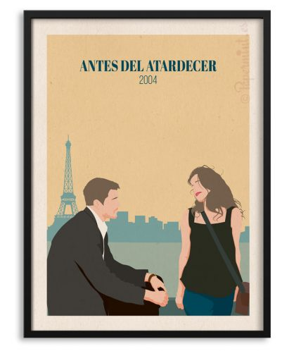 "Póster ""Antes del Atardecer"" - ""Before Sunset"" personalizado por Papermint."