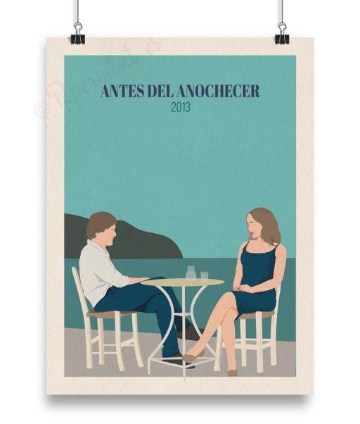 """Cartel personalizado de """"Antes del anochecer"""""""