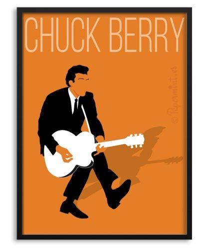 Póster de Chuck Berry estilo minimalista