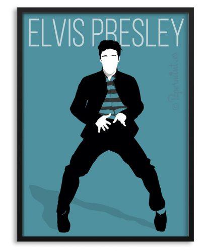 Póster minimalista de Elvis Presley personalizado