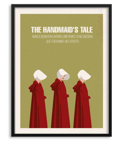 "Póster personalizado de ""The Handmaid's Tale"" con frase"