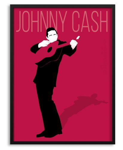 Póster ilustrado de Johnny Cash por Papermint