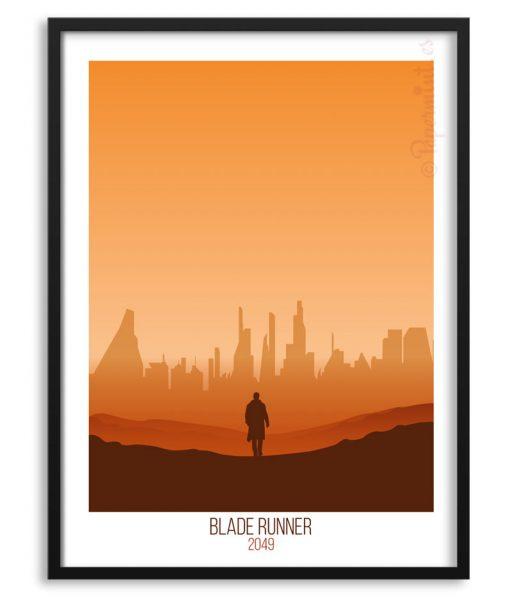 Lámina de Blade Runner 2049 con marco
