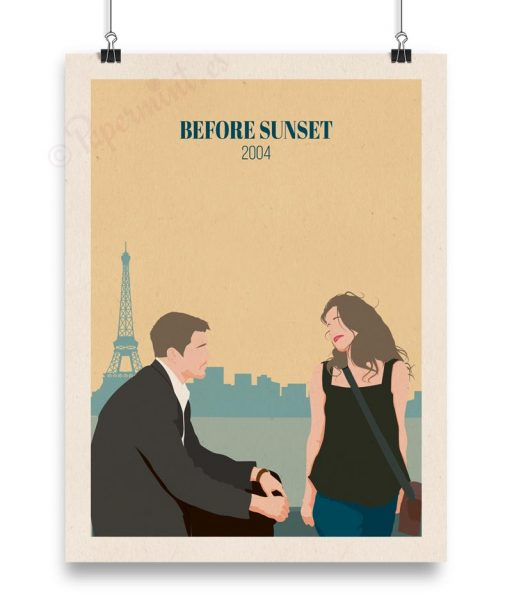 "Póster ""Before sunset"" título inglés"