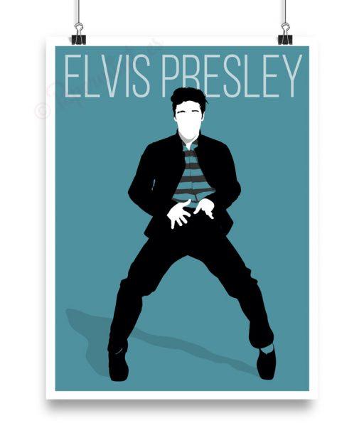 Póster silueta personalizada de Elvis por Papermint