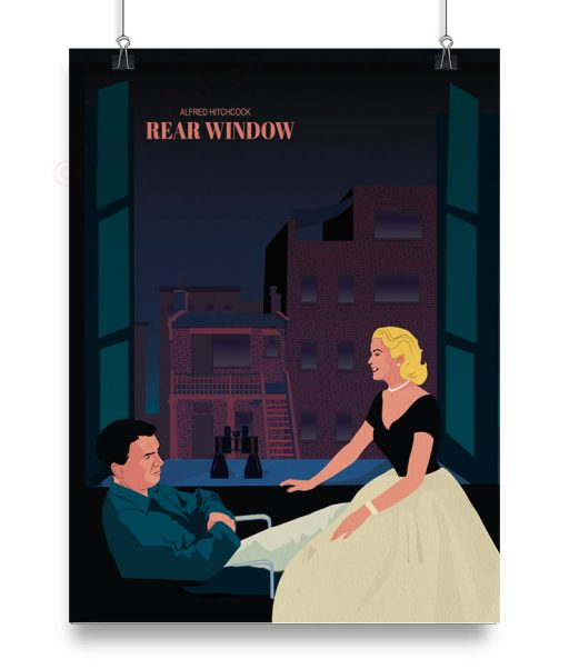 "Póster ""Rear Window"" de Hitchcock por Papermint"