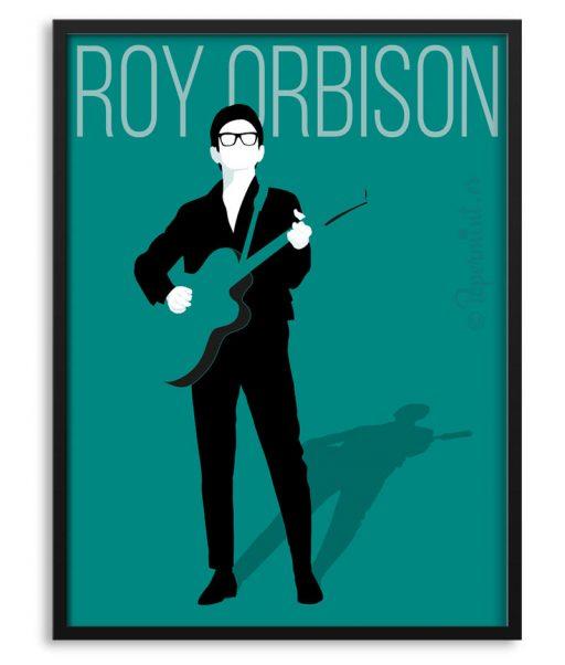 Póster de Roy Orbison estilo minimalista