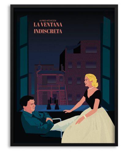 """Póster de """"La ventana indiscreta"""" de Hitchcock"""