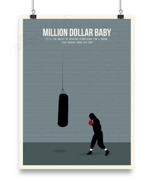 "Lámina minimalista de ""Million Dollar Baby"""