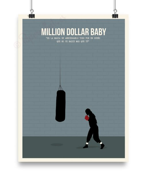 Póster Hilary Swank en Million Dollar Baby