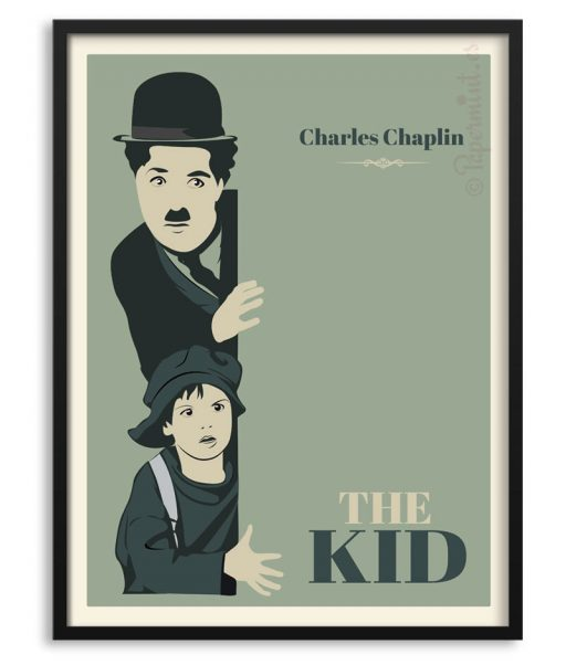"Póster ""The Kid"" de Charles Chaplin"