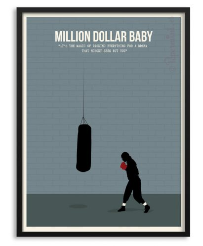 "Póster de ""Million Dollar Baby"" con frase"