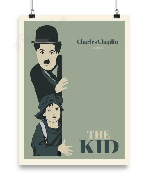 """Lamina de la película """"The Kid"""" de Charlot"""