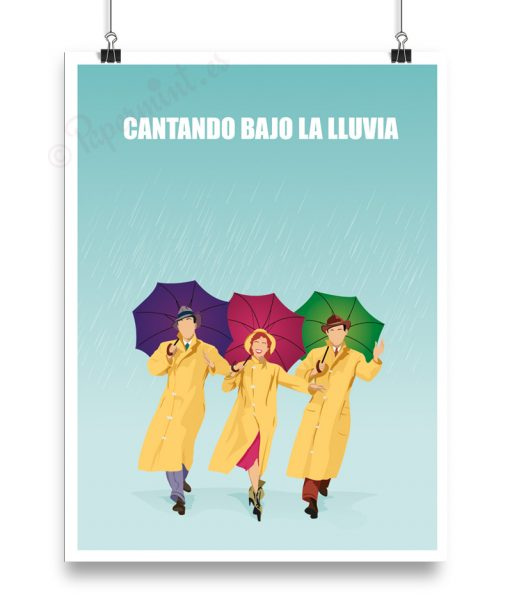 """Cartel alternatifvo de """"Cantando bajo la lluvia"""""""