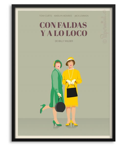 """Póster de """"Con faldas y a lo loco"""""""