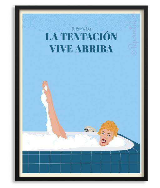 """Póster de """"La tentación vive arriba"""" con Marilyn"""