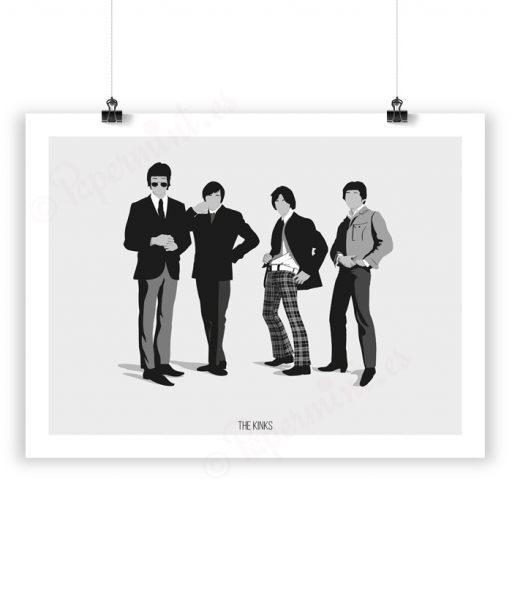 """Ilustración de la banda """"The Kinks"""""""