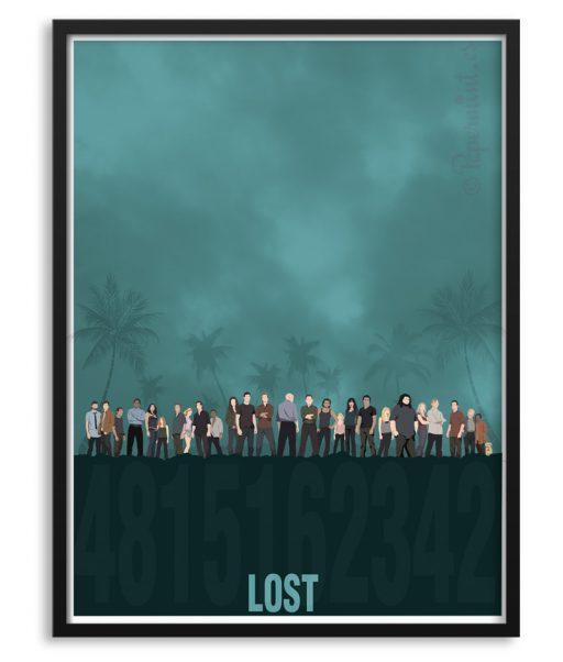 Póster serie LOST por Papermint
