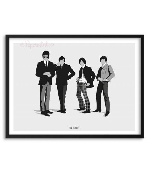 Póster de The Kinks por Papermint